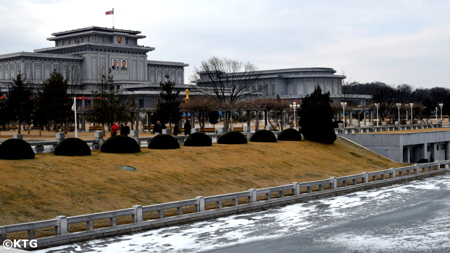 Kumsusan Memorial Palace in the winter, Pyongyang, DPRK (North Korea)