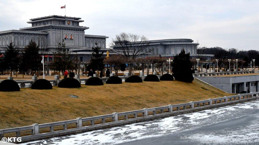 Kumsusan Memorial Palace in the winter, Pyongyang, DPRK (North Korea)