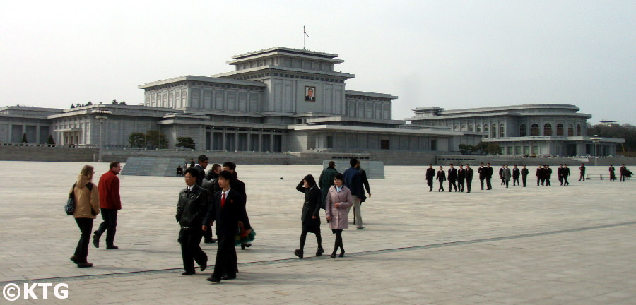 Kumsusan Memorial Palace in 2010. It was named Kumsusan Palace of the Sun after Chairman Kim Jong Il passed away before that the Kumsusan Assembly Hall. It is the most sacred place in the DPRK i.e. North Korea. It is where the Leaders President Kim Il Sung and Chairman Kim Jong Il lie in state. KTG Tours