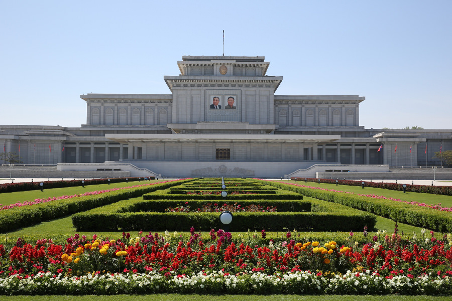 Kumsusan Palace of the Sun in North Korea. Calling it the Mausloeum of Kim Il Sung or Mausoleum of Kim Jong Il is disrespectful in the DPRK as it is not called that in the DPRK
