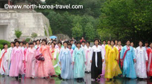 Ladies in Mt. Myohyang, North Korea