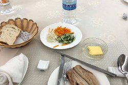 lunch at the Hyangsan hotel in in North Korea, DPRK. Tour with KTG