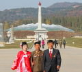 Married couple in the Pyongyang Folklore Park in DPRK (North Korea)