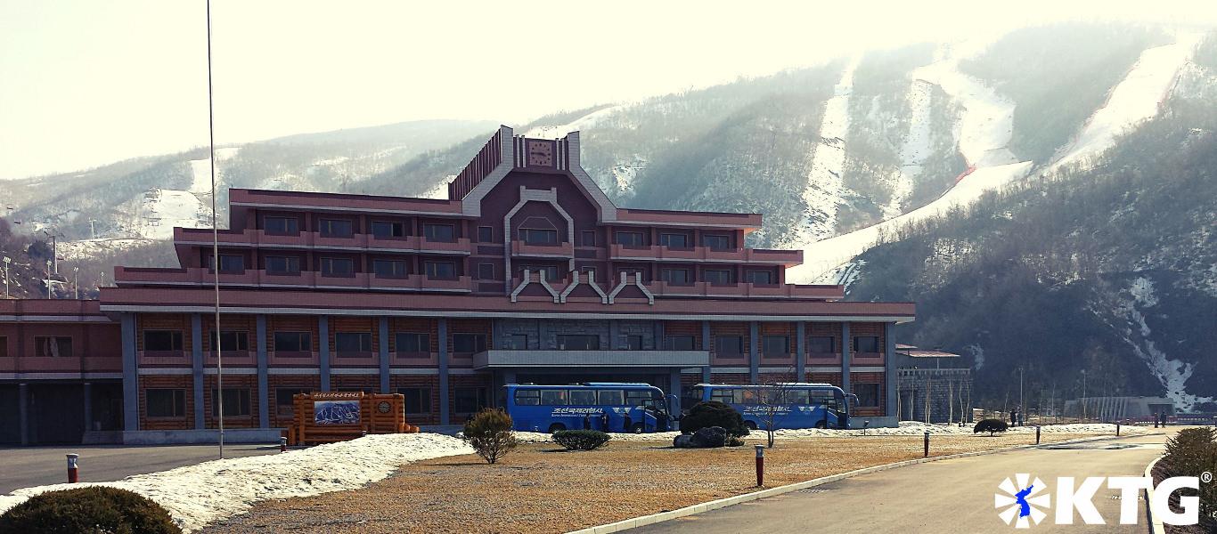 Masikryong ski resort in North Korea, DPRK. Ski trip arranged by KTG Tours