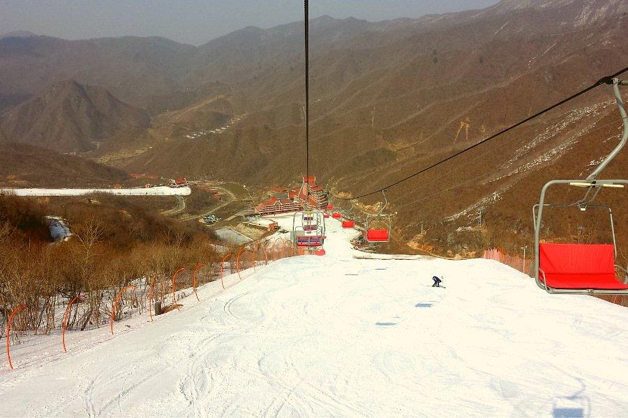 Vue de la station de ski Masikryong en Corée du Nord (RPDC). Voyagez avec KTG®