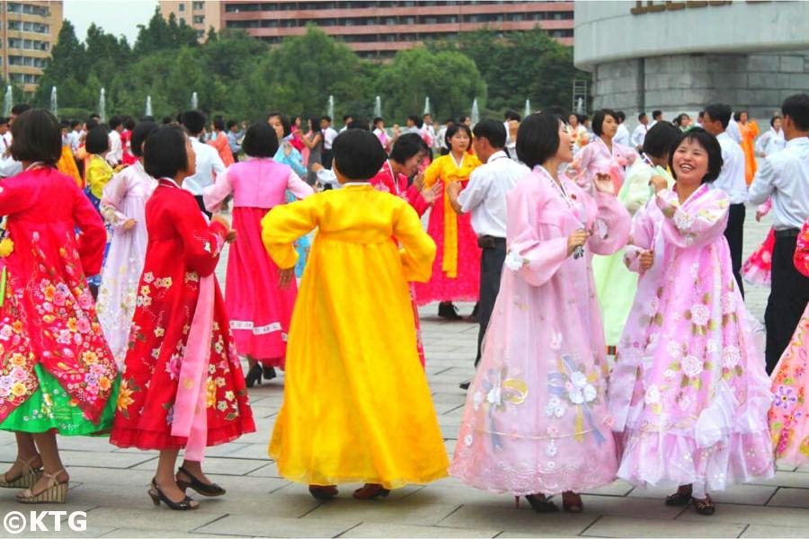 Mass Dances in Pyongyang on National Day (9-9), North Korea (DPRK)