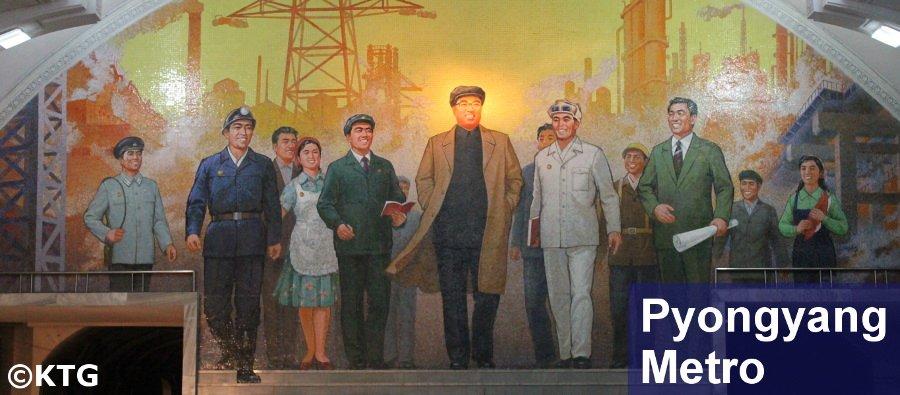 Pyongyang Metro, mosaic of President Kim Il Sung