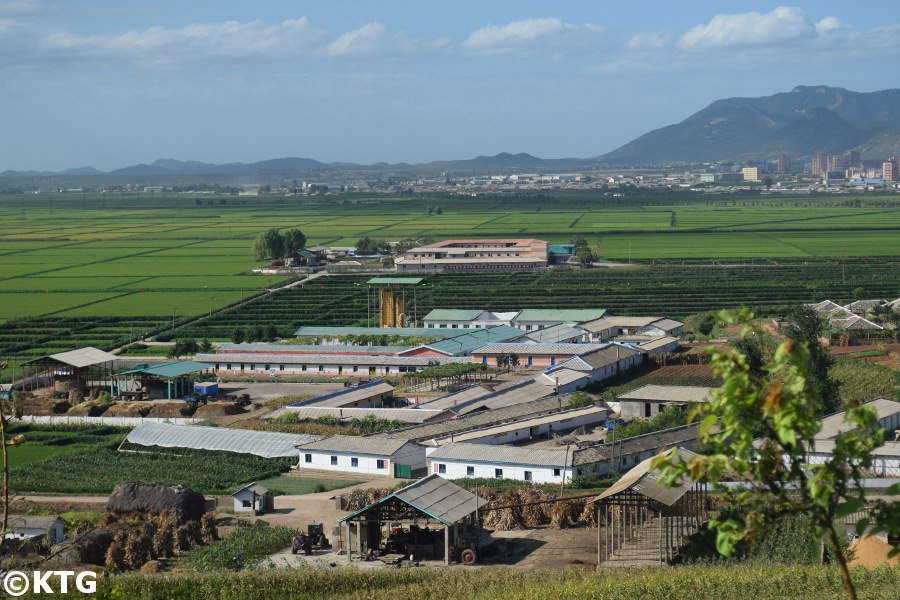 Migok Cooperative Farm in Sariwon city, capital of North Hwanghae province in North Korea, DPRK. Trip arranged by KTG Tours