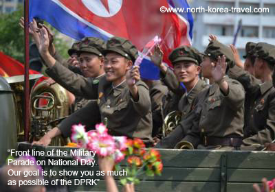 Military Parade in North Korea on National Day