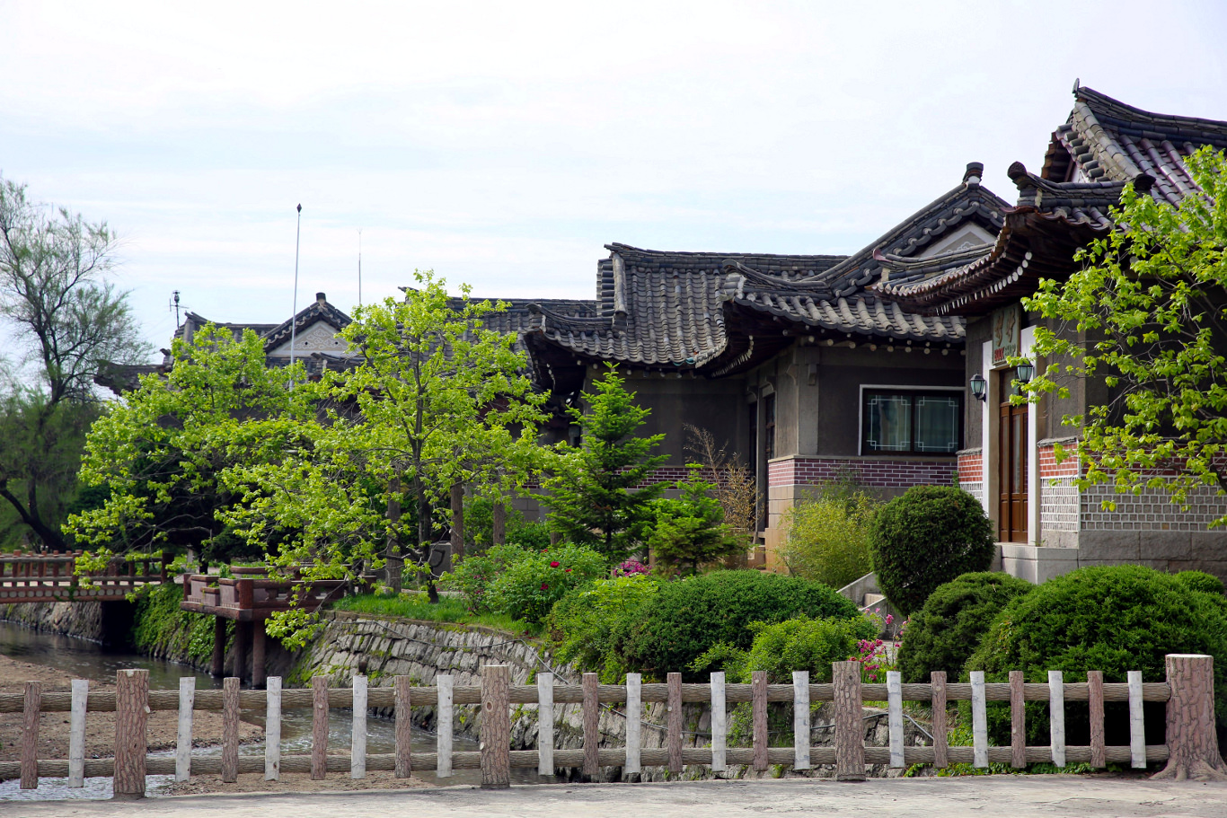 Minsok Folk Hotel in Kaesong, North Korea. This courtyard hotel is located in the old part of town. Picture taken by KTG Tours