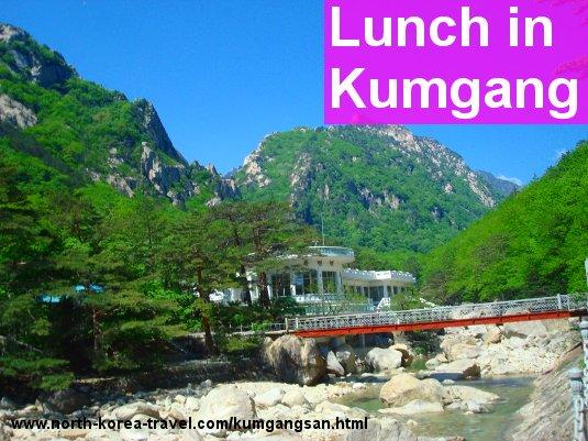 Lunch in Kumgangsan in North Korea (DPRK)