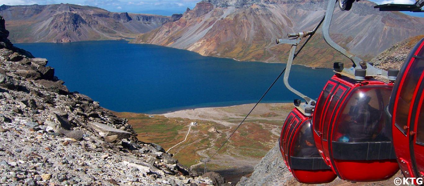 Image of Lake Chon in Mount Paekdu (also spelled Mount Paektu) in North Korea
