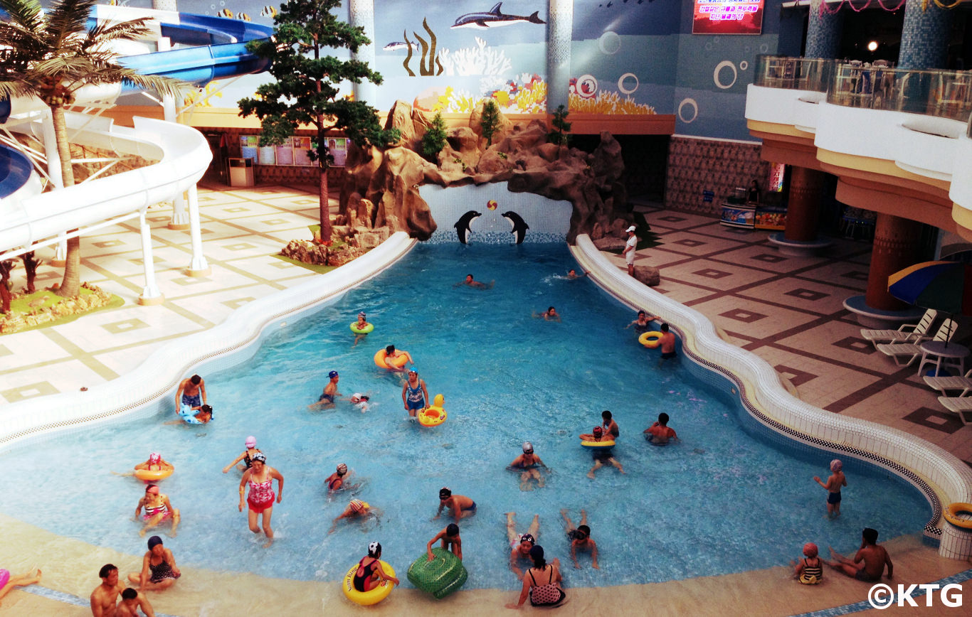 Munsu waterpark in Pyongyang, North Korea