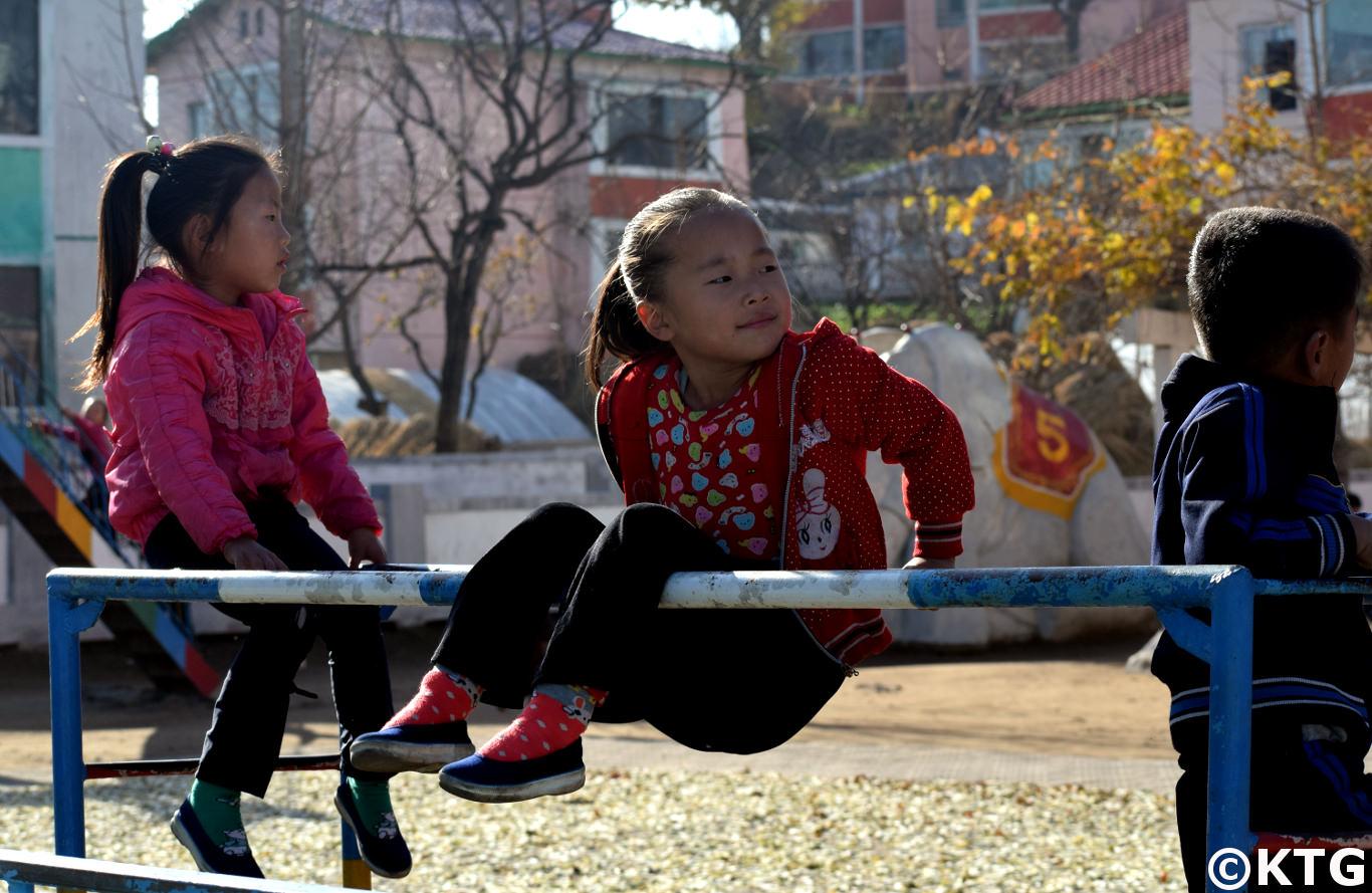 Kindergarten at the Chongsan Cooperative Farm near Nampo, North Korea (DPRK)