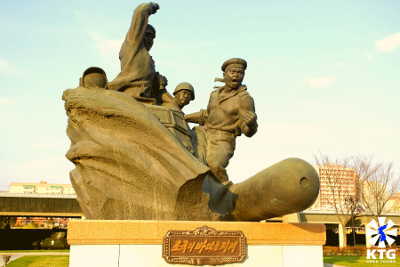 Statues at the Korean Fatherland Liberation War Museum in Pyongyang capital of North Korea, DPRK. Picture taken by KTG Tours