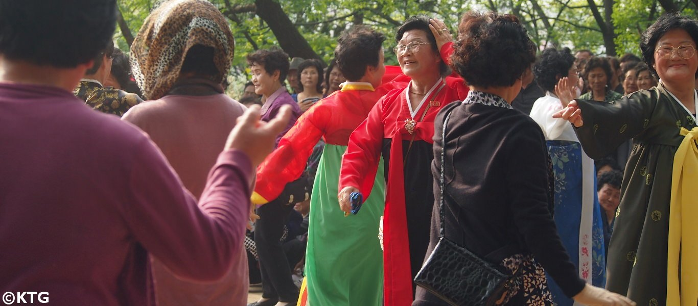 Dances in May Day in Pyonygang, North Korea (DPRK)