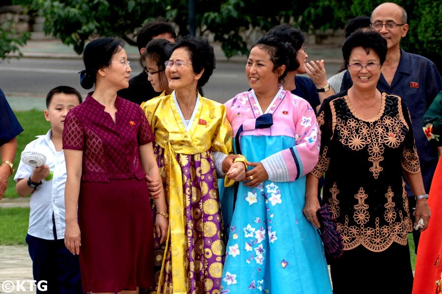Famille à Pyongyang en Corée du Nord. Photo prise par KTG Tours