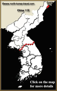 Map of Rason, North Korea (Rajin and Sonbong)