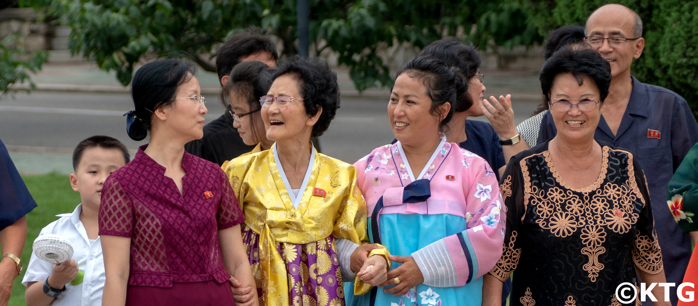 North Korean family in Pyongyang. Trip arranged by KTG Tours