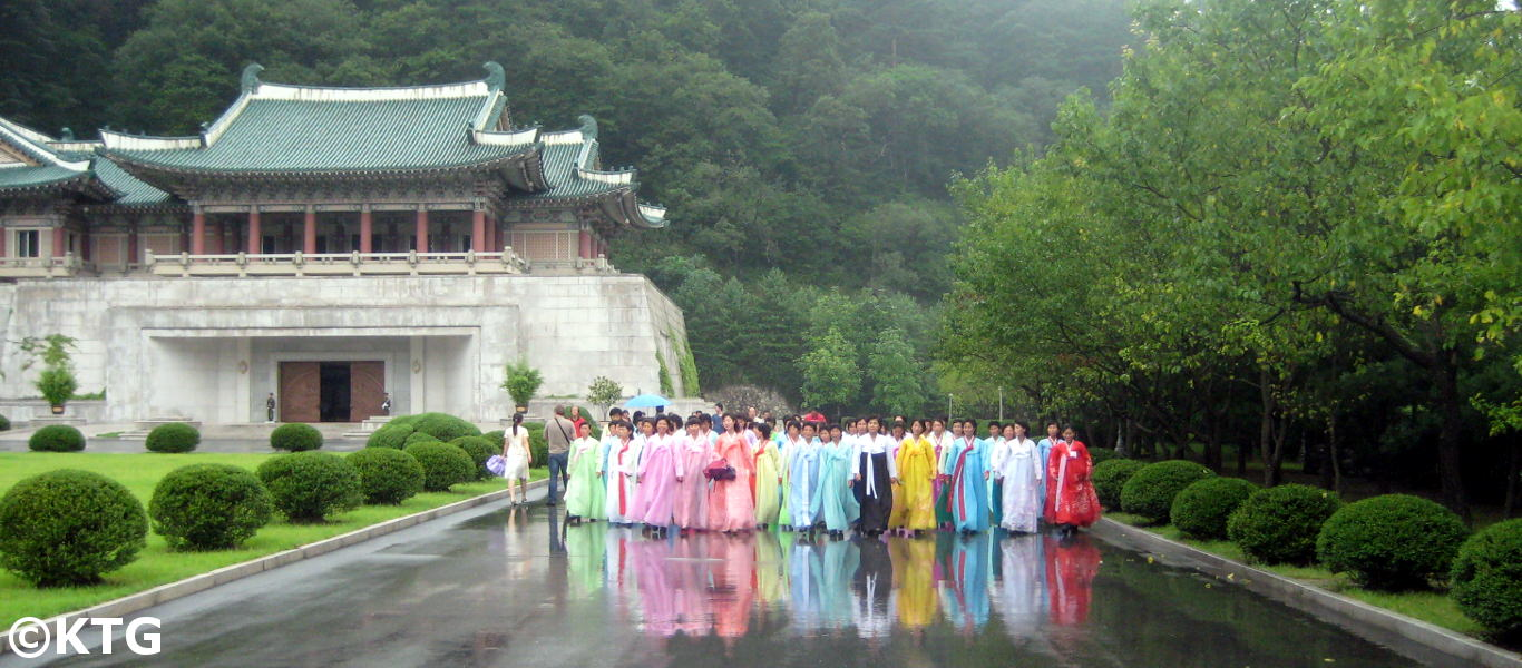 Ladies in Mount Myohyang, North Korea (DPRK)