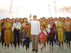 mural at fatherland victorious liberation war pyongyang