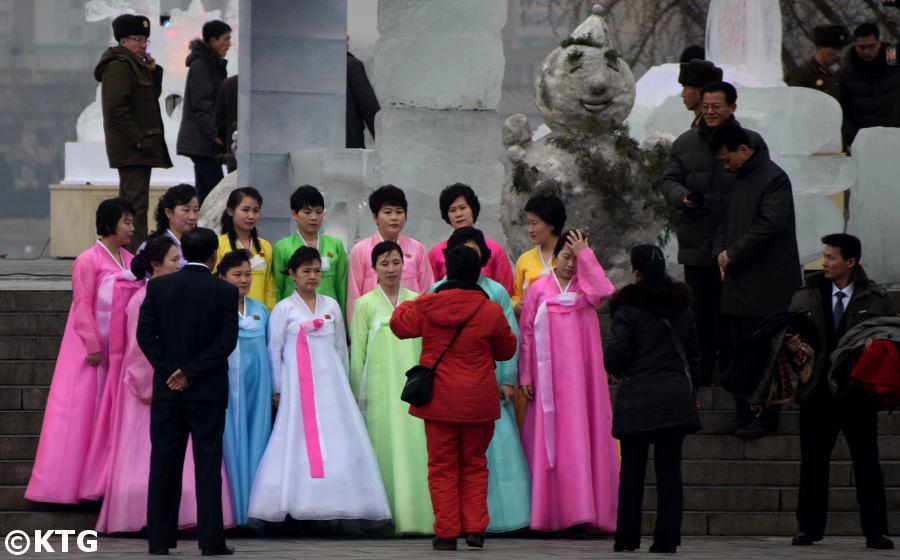 Snowman in Pyongyang, North Korea. Picture taken by KTG Tours