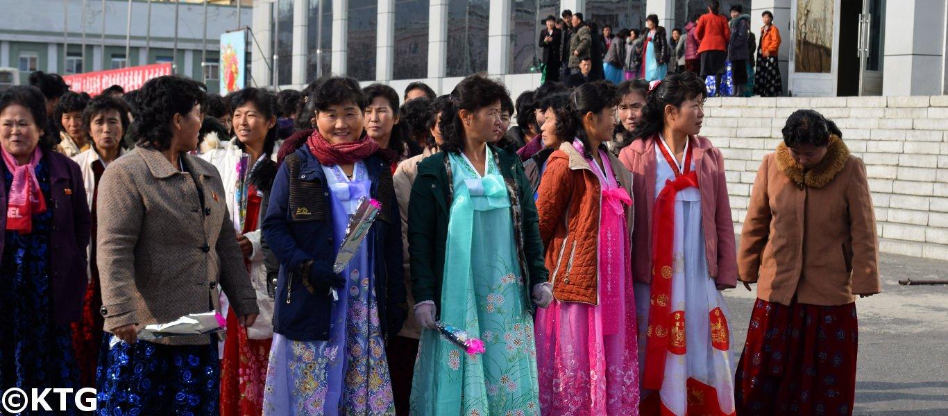 Ladies in Nampo, North Korea (DPRK)