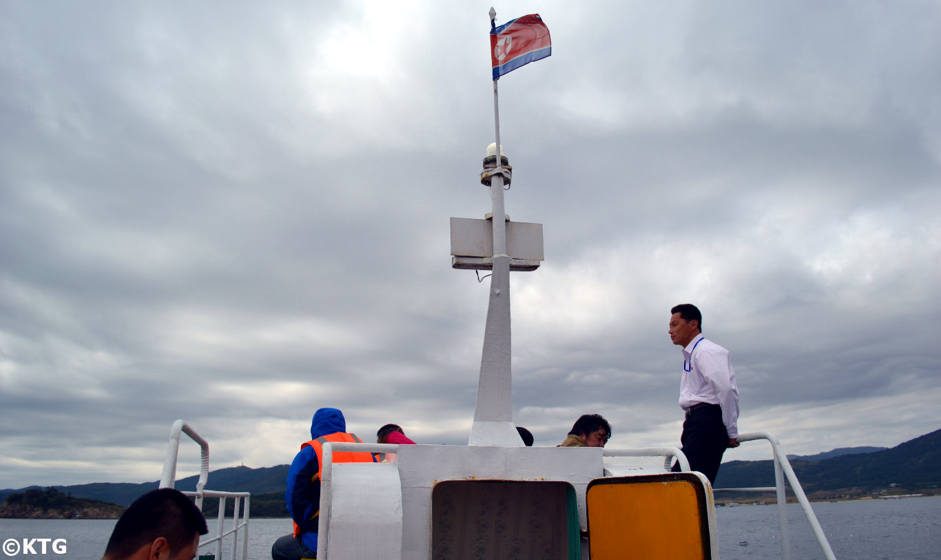 Boat ride in Rason, DPRK (North Korea) with KTG Tours. We are off to see North Korean seals!