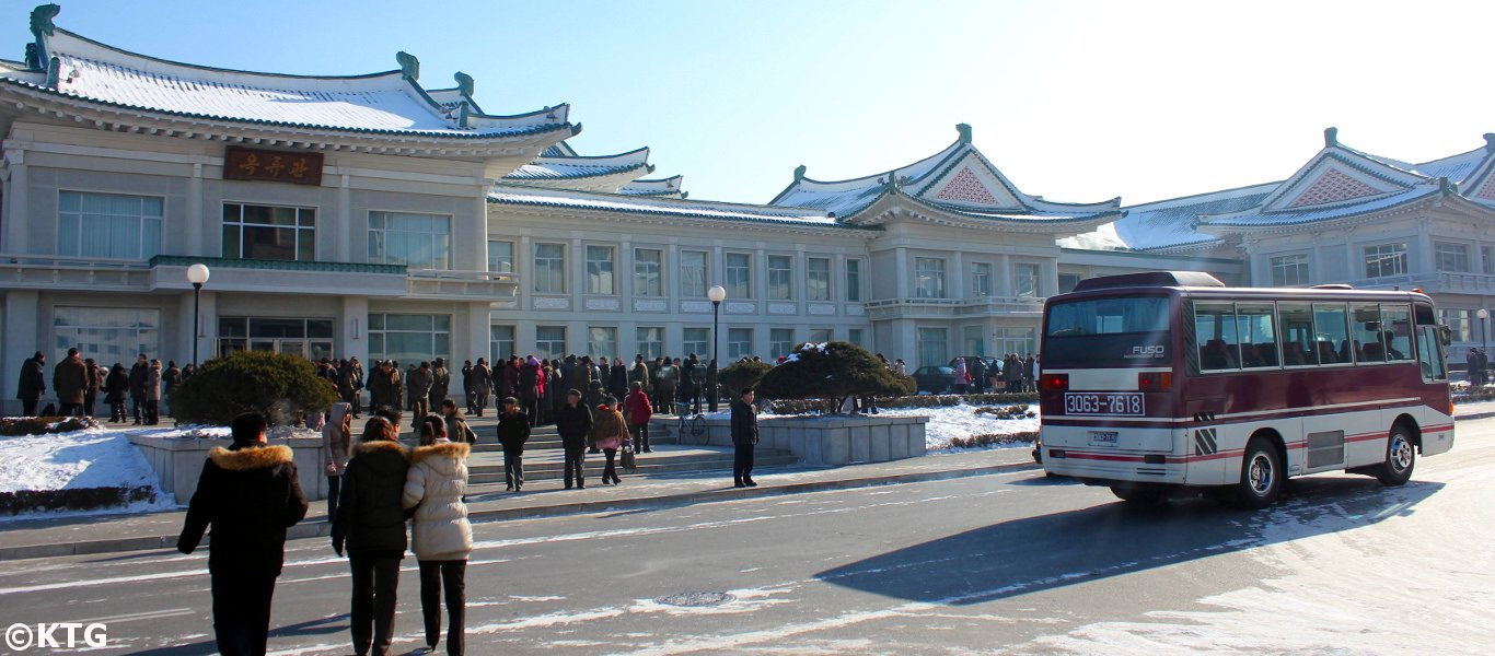 Okryuwan in Pyongyang capital of North Korea. The Okryu restaurant is famous for its delicious Pyongyang cold noodles. Picture taken by KTG Tours