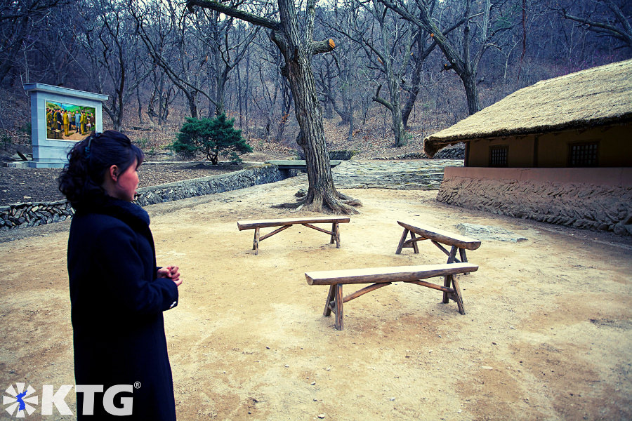 Paeksongri revolutionary site. This is where Kim Il Sung university was moved to during the Korean War. North Korea picture taken by KTG Tours