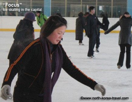 Ice skating in Pyongyang