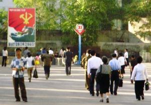 Calle en Pyongyang capital de Corea del Norte