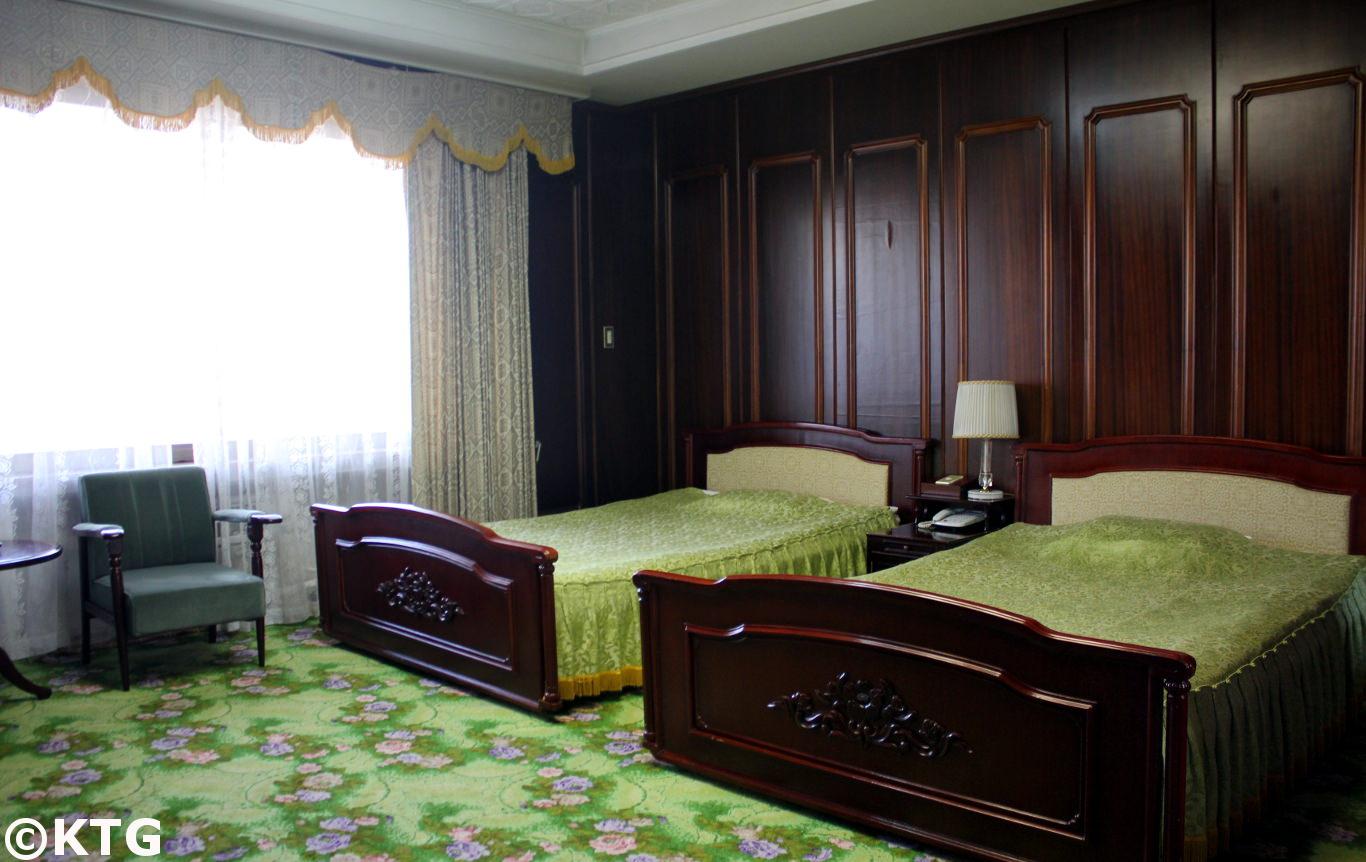 habitación en el hotel Ryonggang en Corea del Norte