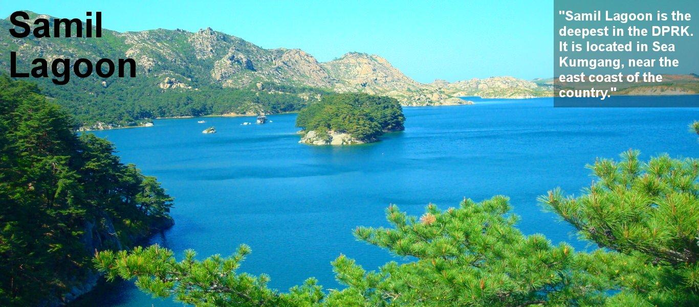Samil lagoon, Mount Kumgang, in Corée du Nord. Trip arranged by KTG tours