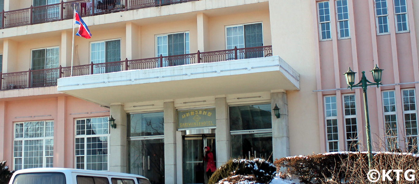 The 8 March Hotel is a third class, low budget hotel in Sariwon city, provincial capital of North Hwanghae province, North Korea (DPRK). Trip arranged by KTG Tours