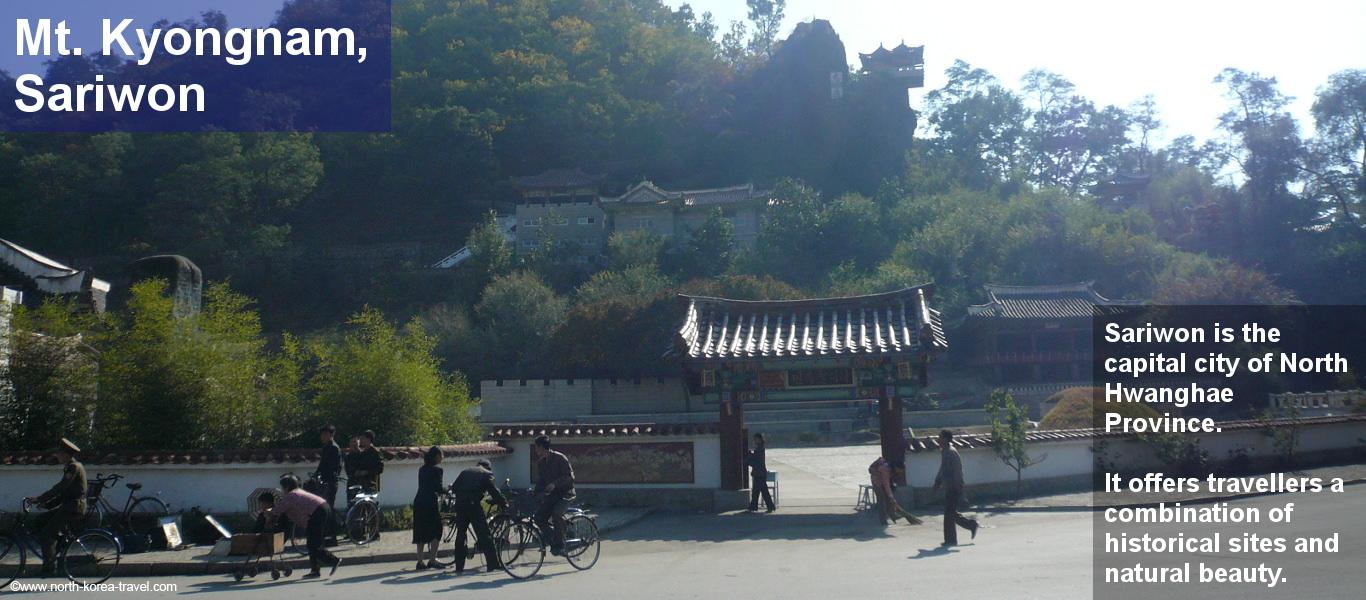 Monte Kyongname en Sariwon, Corea del Norte