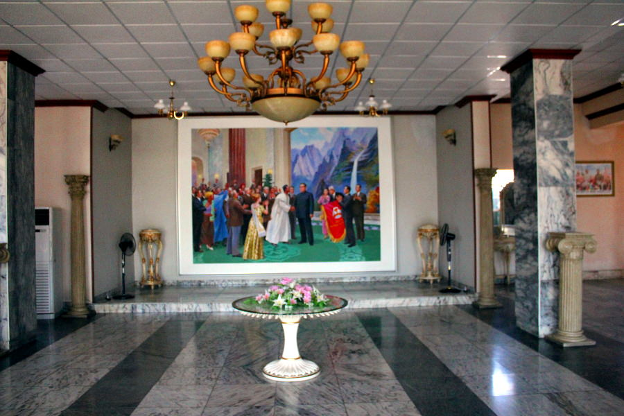 Lobby of the March 8 Hotel in Sariwon city, North Korea. Picture taken by KTG