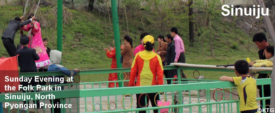 Folk park in Sinuiju, DPRK (North Korea)