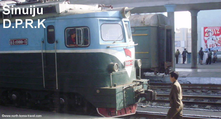 Sinuiju Train Station, North Korea, picture from 2009
