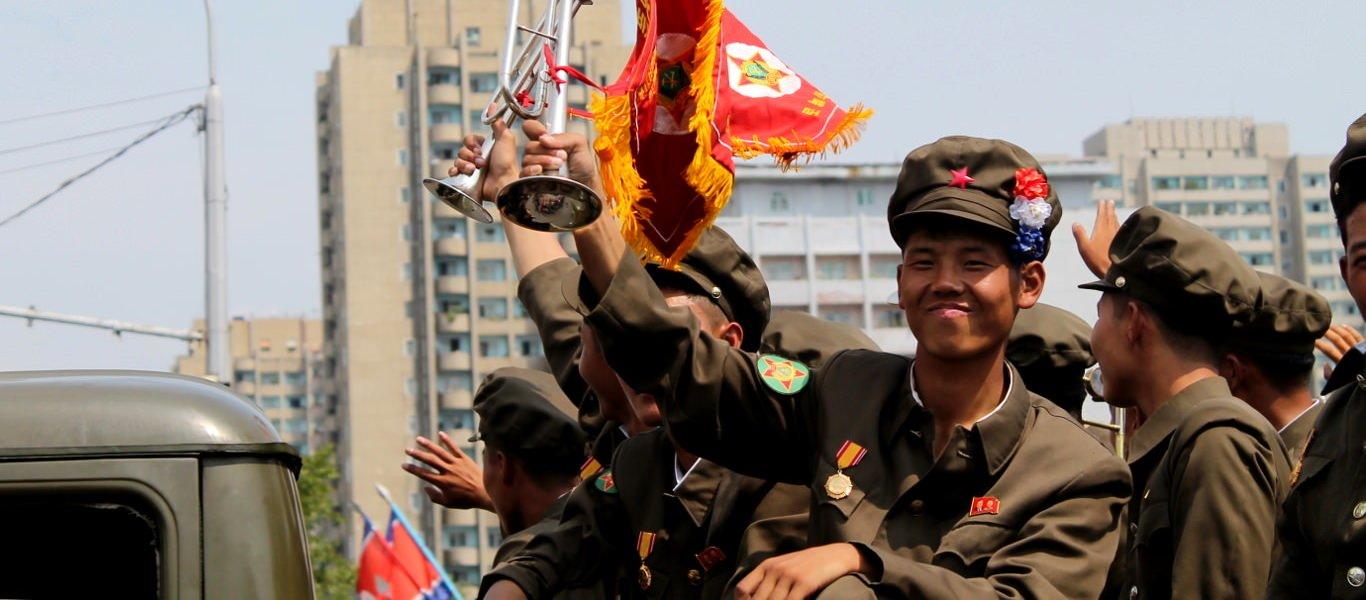 Parada Wojskowa w Pyongyang w Korei Północnej