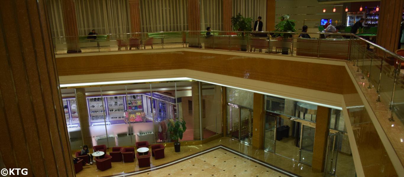 recepción del hotel Sosan en Pyongyang, la capital de Corea del Norte (RDPC). Foto de KTG