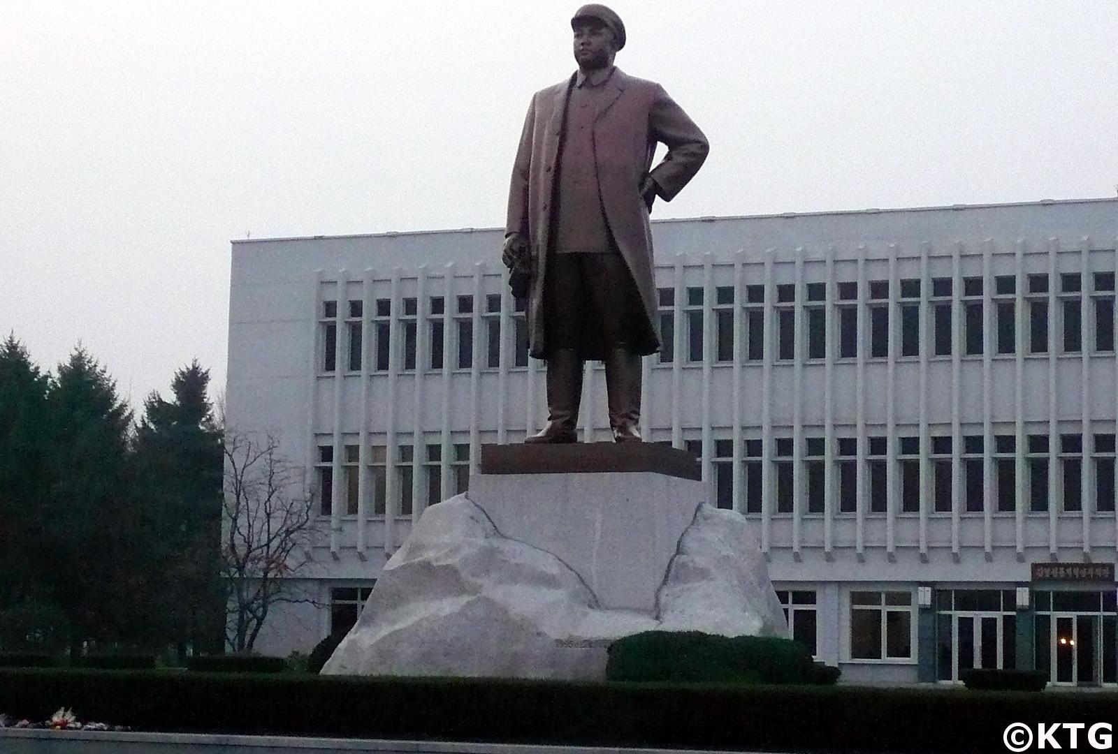 Estatua del Líder de Corea del Norte, el Presidente Kim Il Sung, en Wonsan