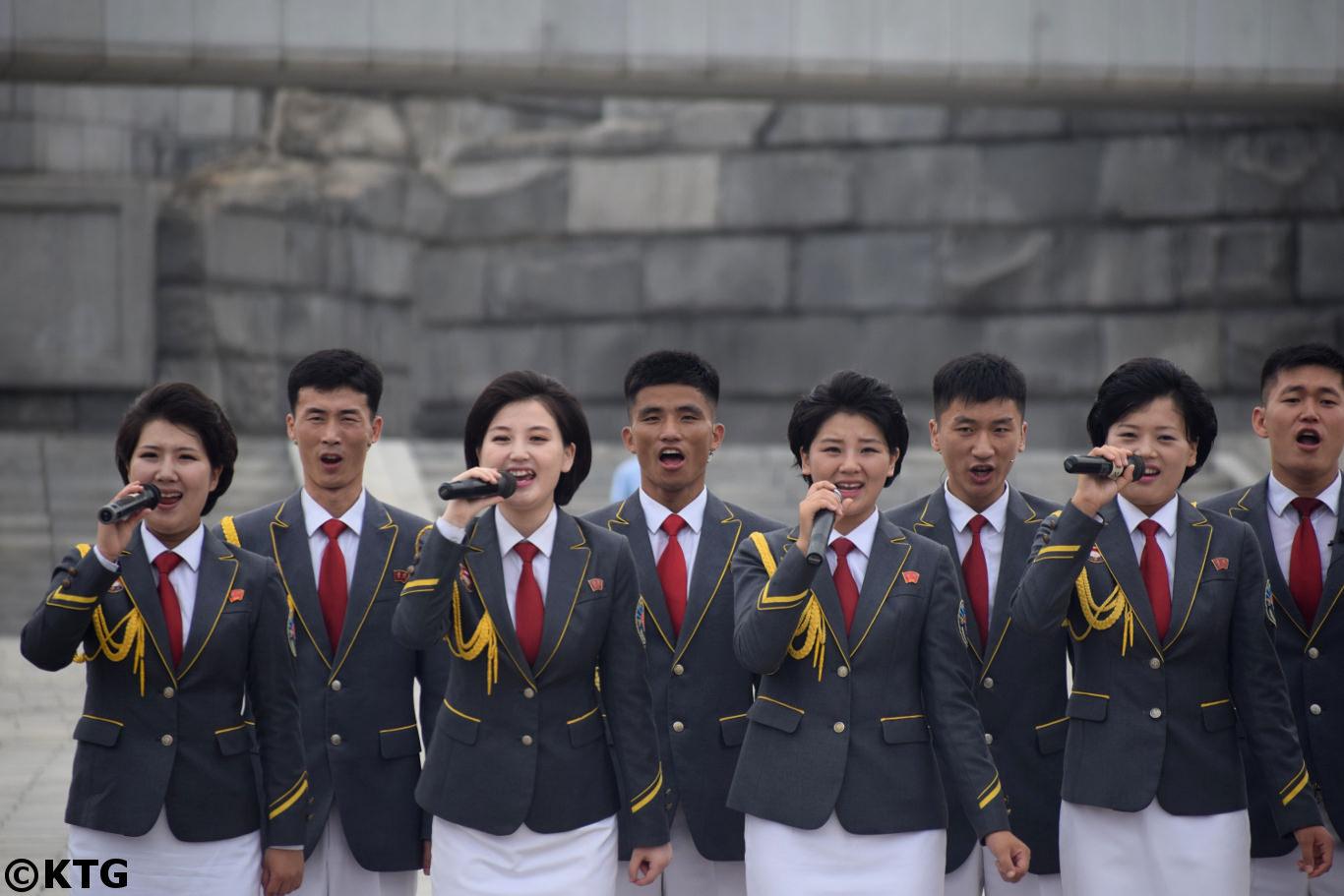 concierto en la calle en Pyongyang capital de Corea del Norte. Viaje organizado por KTG Tours