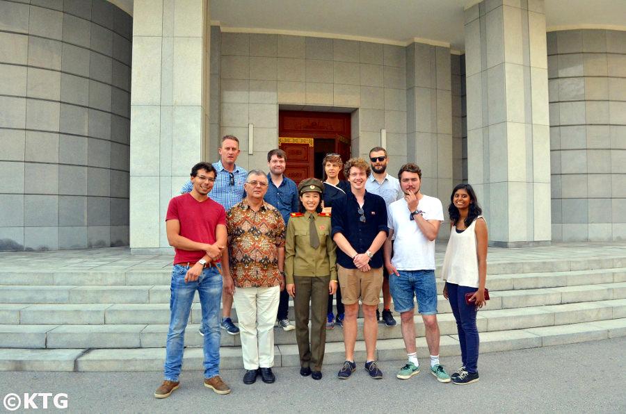 KTG group at the Korean War Museum in Pyongyang, North Korea (DPRK)