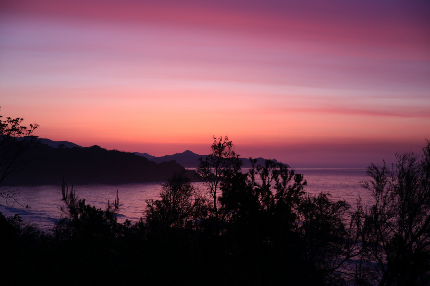 Sunrise seen from the Majon Bathing resort near Hamhung in North Korea (DPRK)