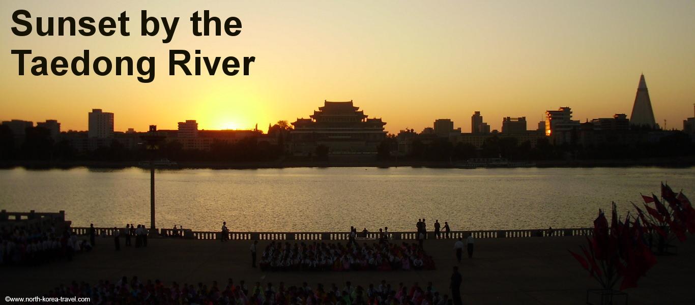 El Río Taedong en Pyongyang, capital de Corea del Norte