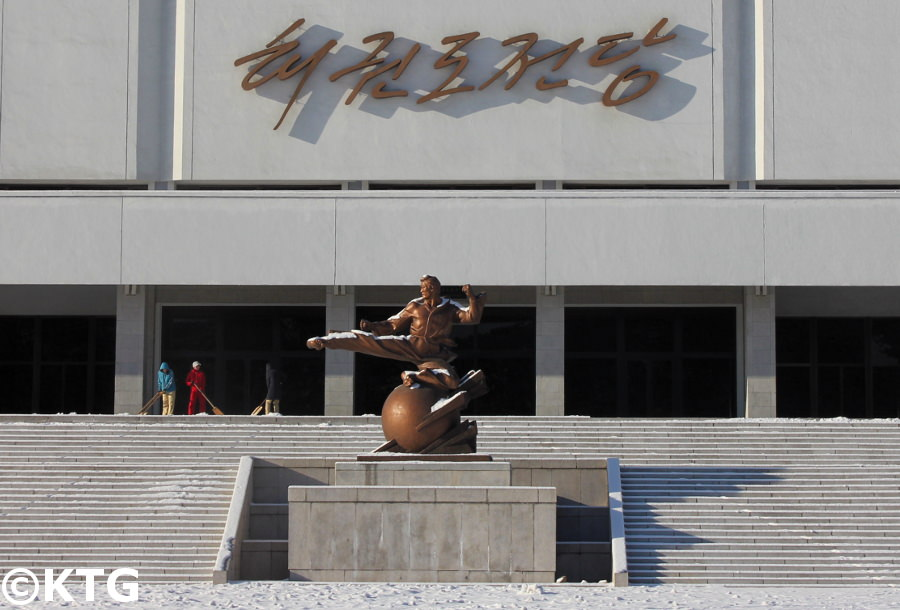 Taekwondo Hall in the sports district of Pyongyang