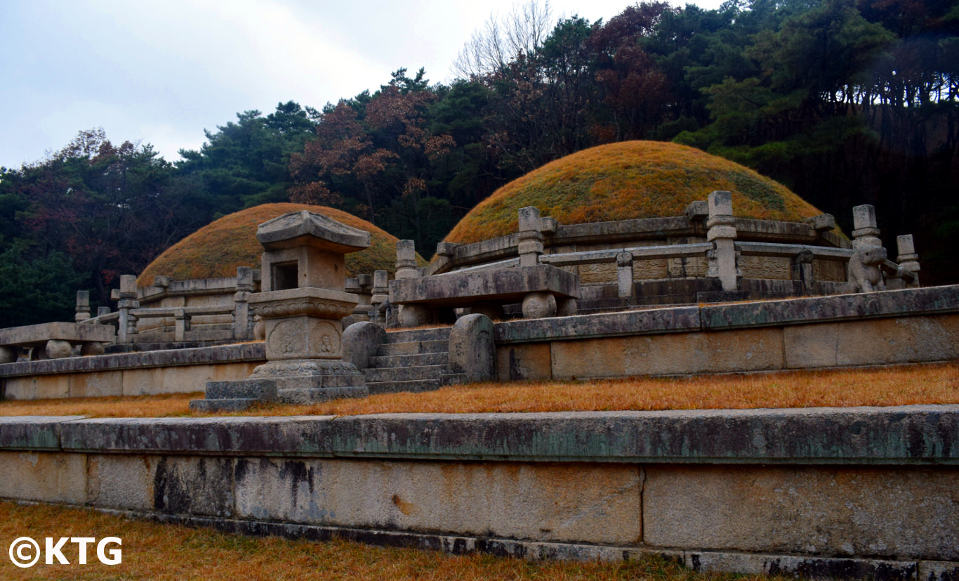 Tomb of King Kongmin in Kaesong, North Korea. The tomb of his mongolian wife is there too. This was declared a UNESCO World Heritage site in 2013