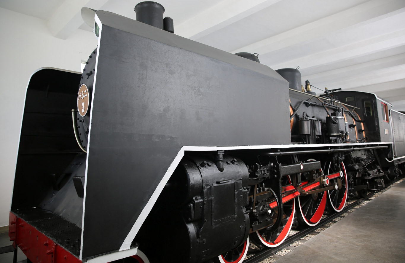 Steam train at the Wonsan Train Station Revolutionary Site in North Korea, DPRK. Picture taken by KTG Tours