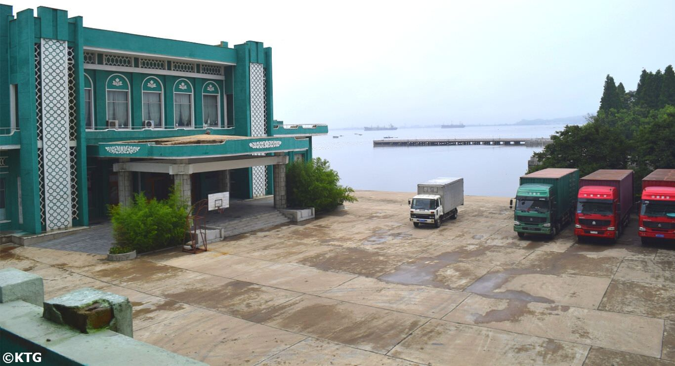 Views of the sea from the Songdowon Hotel in Wonsan city, Kangwon province, North Korea (DPRK). Trip arranged by KTG Tours